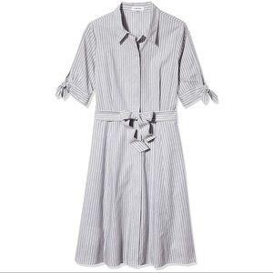 NWT Calvin Klein Cotton Midi Shirt Dress